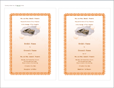 21 free wedding invitation template word excel formats