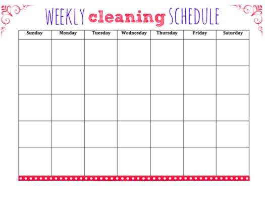 weekly schedule sample 20.4
