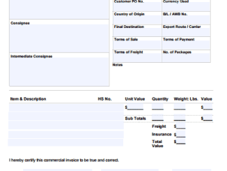 editable commercial invoice template archives word excel templates