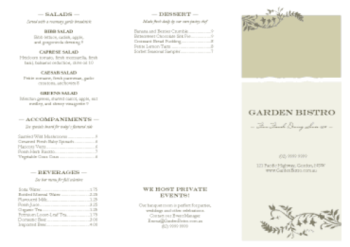 Free Restaurant Menu Templates 4941