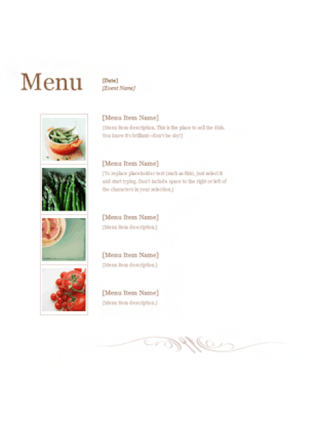 Free Restaurant Menu sample 2641