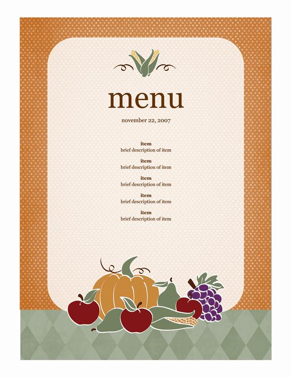 21 Free Free Restaurant Menu Templates Word Excel Formats – Word Menu Template Free