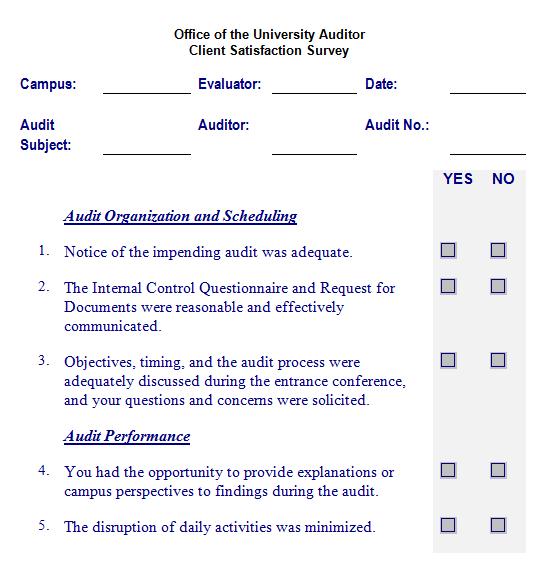 Satisfaction Survey Template 2461  Free Survey Templates