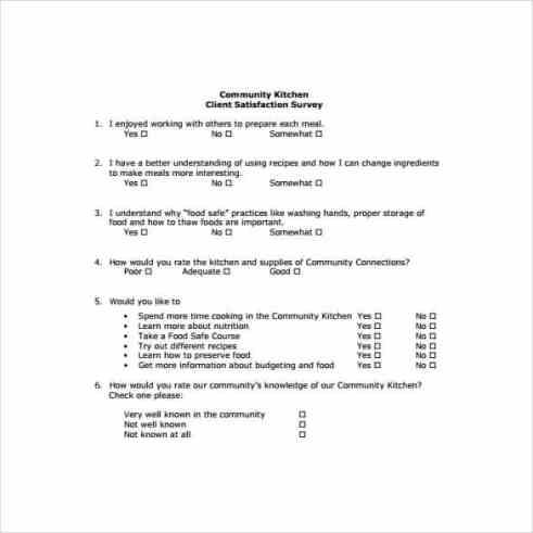 Satisfaction Survey sample 741