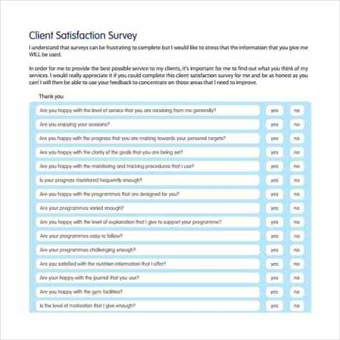 Satisfaction Survey sample 9941