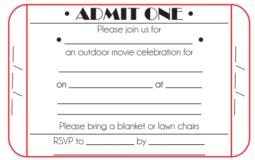 Free Ticket Invitation Template Word Excel Formats - Ticket invitation template