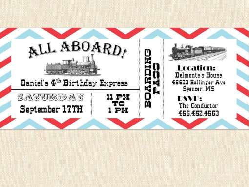 Ticket Invitation sample 14.4