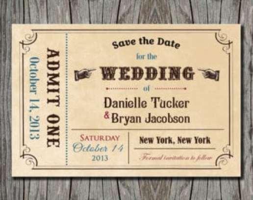 Ticket Invitation sample 841