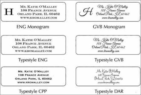 address label sample 59416