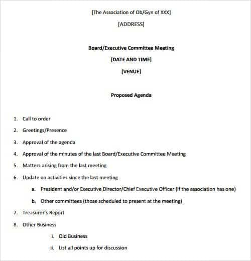 agenda template 141