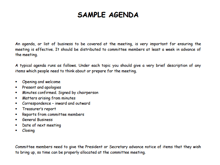 21 Free Agenda Template Word Excel Formats Agenda Template 341 Maxwellsz