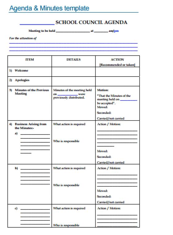 agenda template 5941