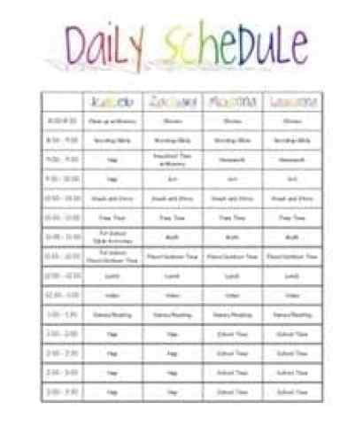Free Daily Schedule Template  Word Excel Formats