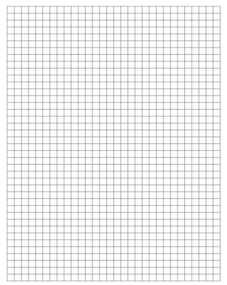 graph paper template 1964