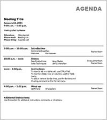 meeting agenda sample 15.64