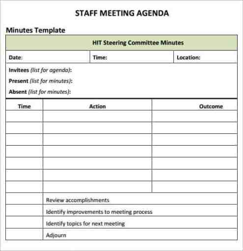 meeting agenda sample 18.641