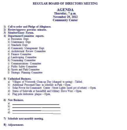 meeting agenda sample 2461