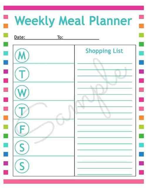 menu planner sample 15.64