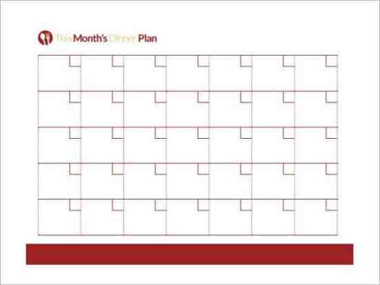 menu planner template 59641