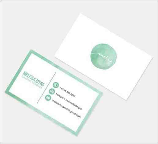name card template 6941