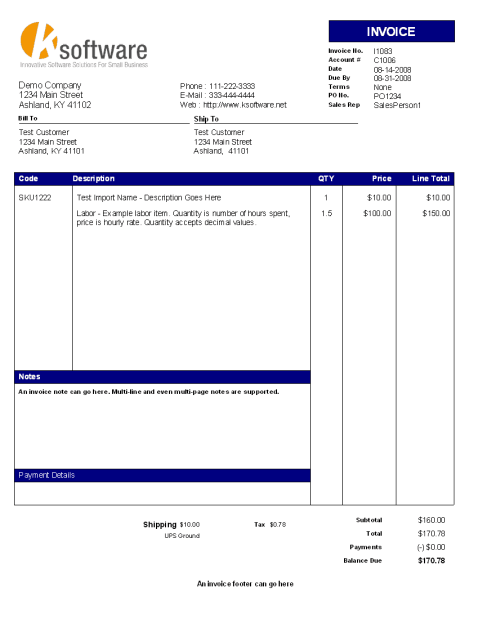 sales invoice sample 6941