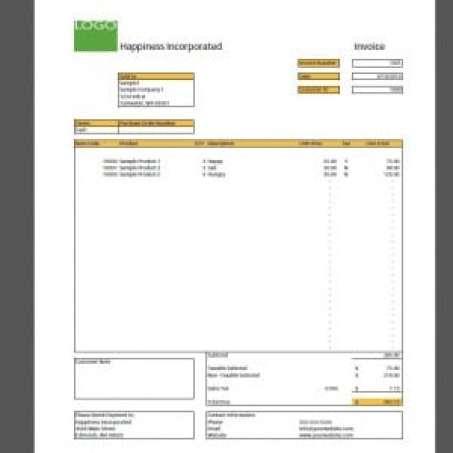 sales invoice sample 741