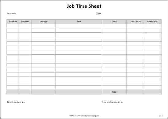 time sheet sample 141