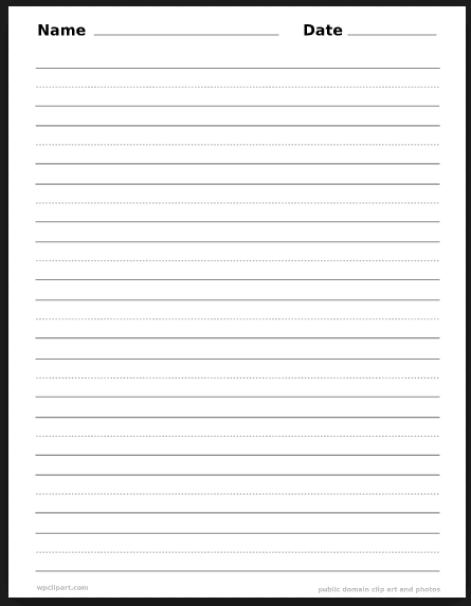 writing paper sample 12.12