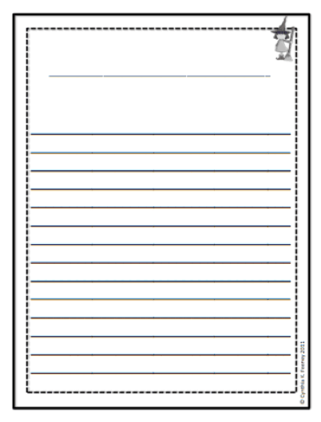 writing paper sample 4941