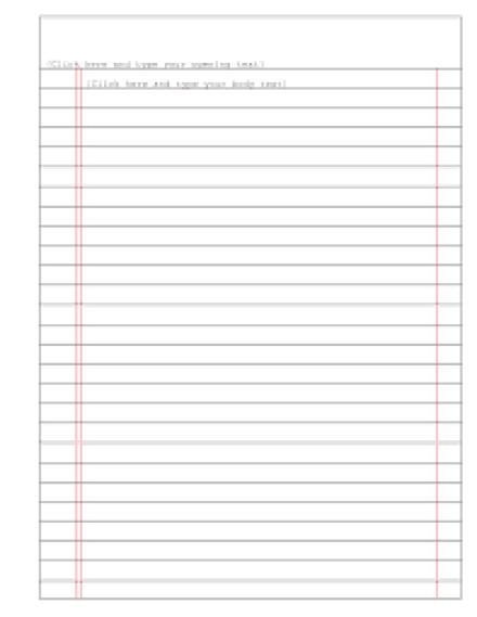 writing paper sample 541