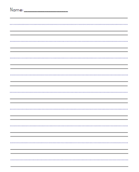 writing paper template 241