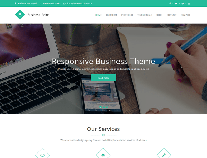 business point multi purpose business theme best premium and