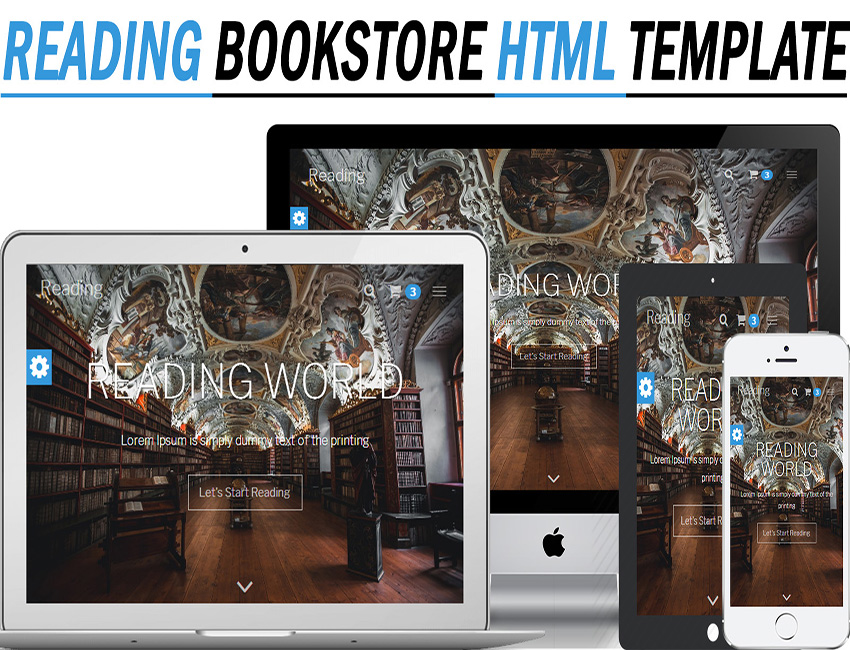 Reading - Bookstore Responsive HTML Template - Themes, Plugins ...
