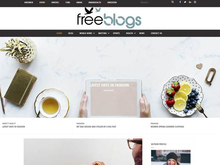 free blog plus screenshot