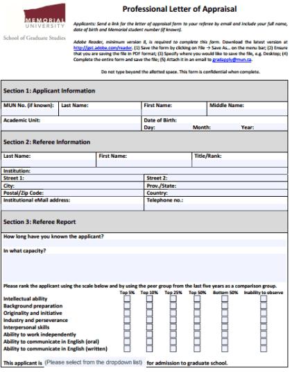 Appraisal Letter 264