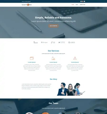 Bootstrap Blog Templates 11