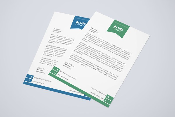 6 letterhead formats in word website wordpress blog letterhead design psd spiritdancerdesigns Image collections