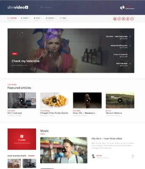 Video Website Templates Free 13