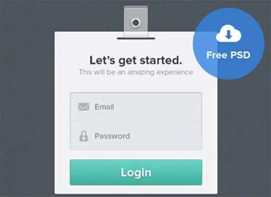 login page template 61