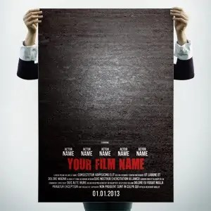 free movie poster template