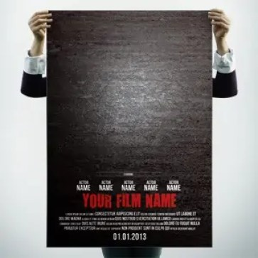 movie poster template 164