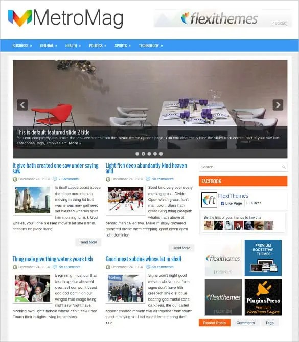 news blogger theme 11.64