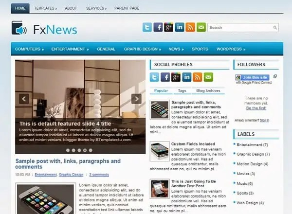 news blogger theme 6461