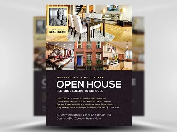Open House Flyer. Real Estate Open House Flyer Template Best ...