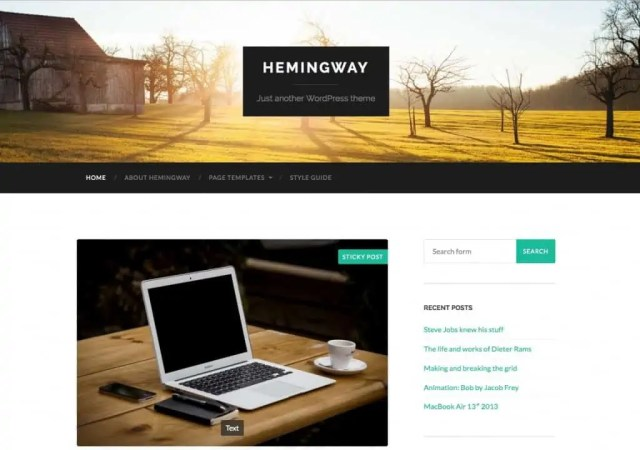 Free WordPress Themes For Tech Blog 461