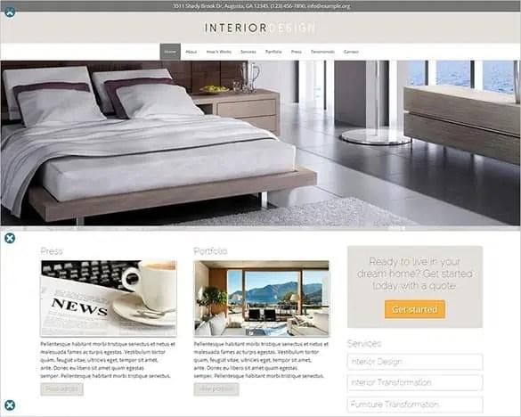 Interior Design WordPress Theme Free Download 561