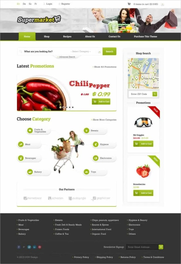 Online Grocery Shopping Website Templates 34