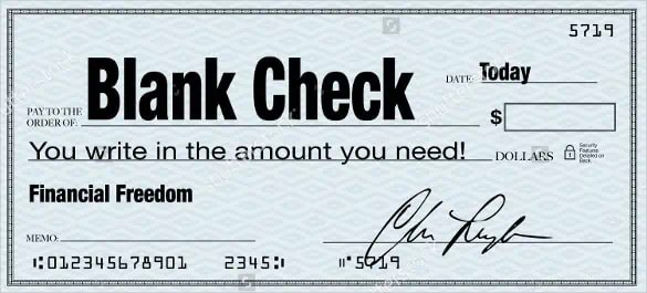 word cheque template