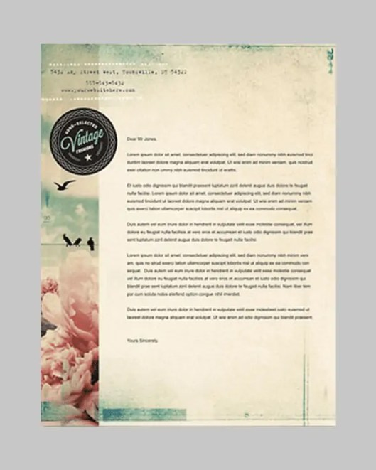 business letterhead template 2641