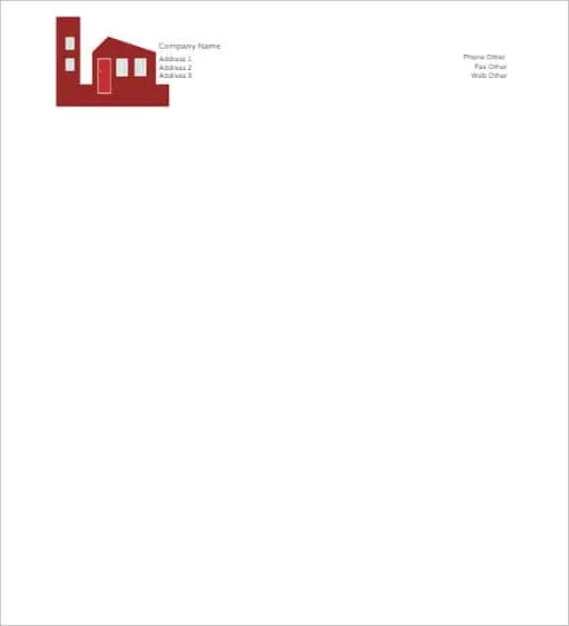 6 free business letterhead templates for word website for Word letterhead template with logo